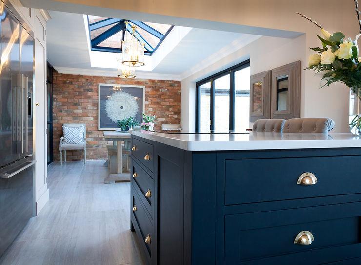 Stunning Cogenhoe Kitchen The White Kitchen Company Kitchen units Solid Wood Blue