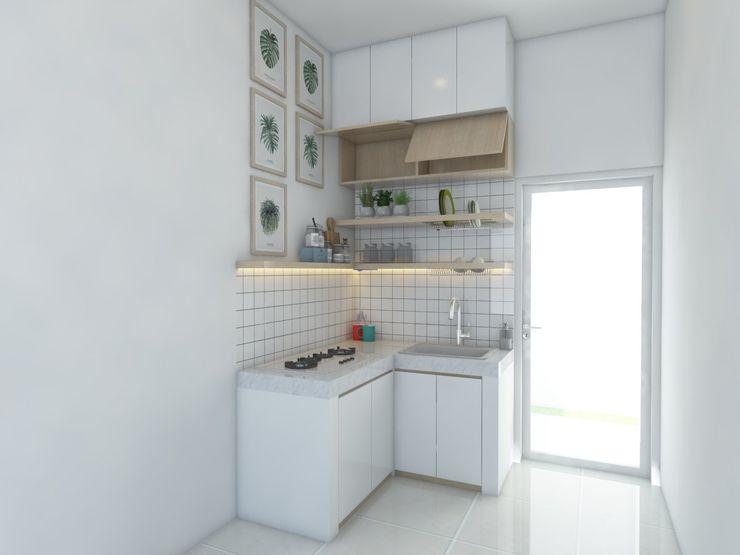 Kitchen set bu anisa viku Dapur Minimalis White