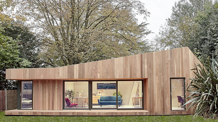 homify Prefabricated home Wood Wood effect