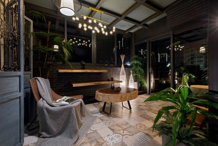 燈光開啟後特別有浪漫的氣息 大地工房景觀公司 Interior landscaping