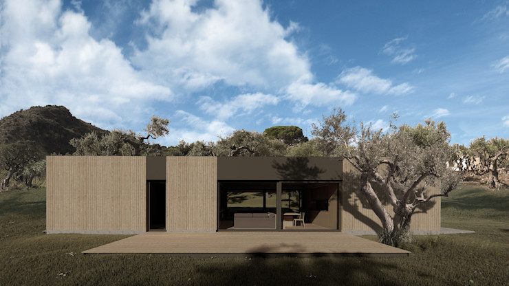 Wooden house ALESSIO LO BELLO ARCHITETTO a Palermo Wooden houses Wood