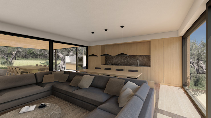 WOODEN HOUSE G|C – SICILY ALESSIO LO BELLO ARCHITETTO a Palermo Built-in kitchens Wood