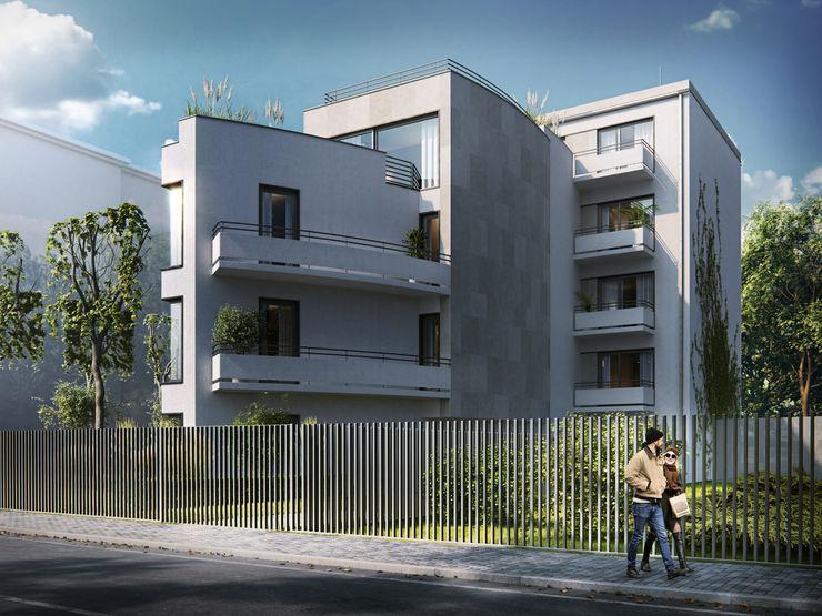 Zbigniew Tomaszczyk Decorum Architekci Sp z o.o. Multi-Family house White