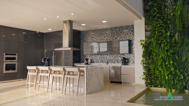Decoralvarez Modern kitchen Chipboard Grey