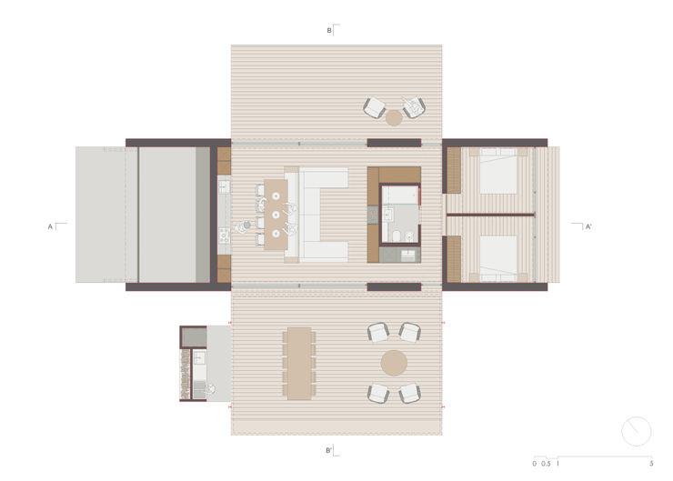Xlam wooden house plan ALESSIO LO BELLO ARCHITETTO a Palermo