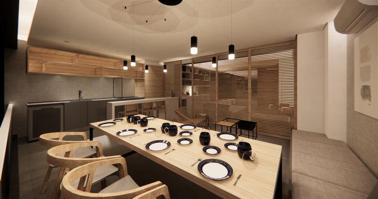 Saulo Magno Arquiteto 餐廳 木頭 Grey