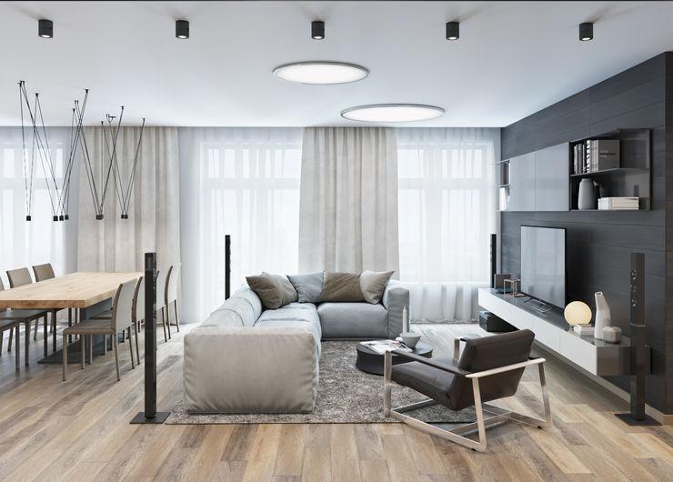 nadine buslaeva interior design Salon minimaliste