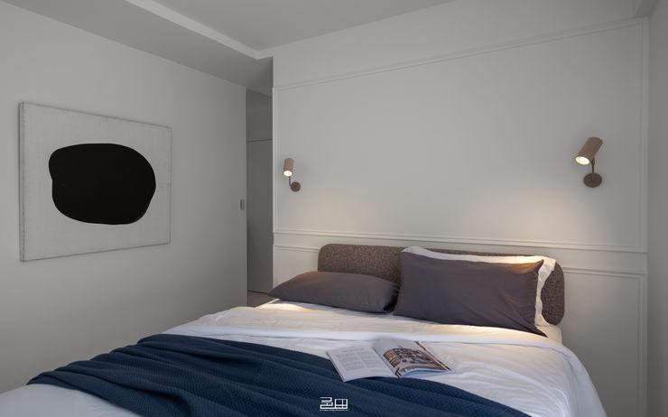 主臥室 邑田空間設計 Minimalist bedroom White