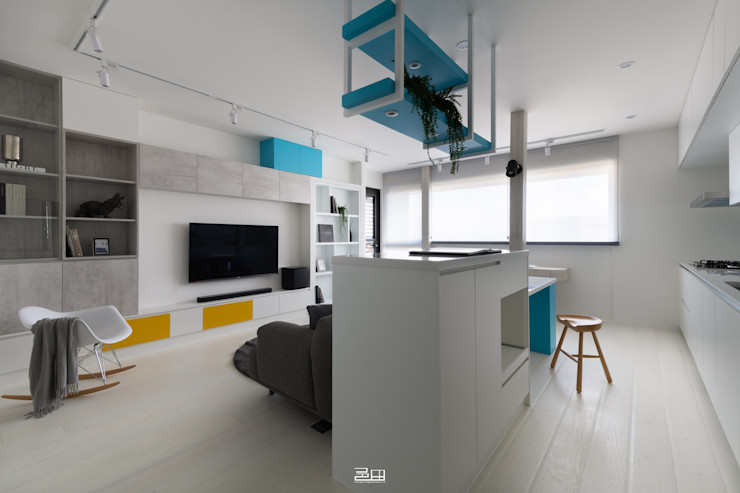 客廳 邑田空間設計 Minimalist living room White