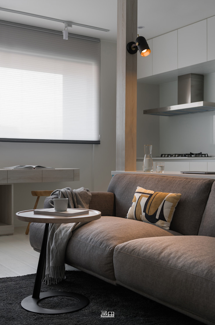 沙發區 邑田空間設計 Minimalist living room