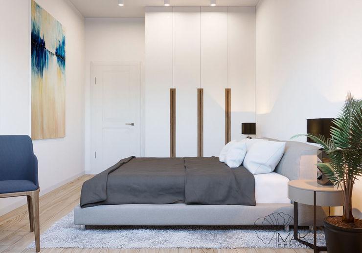 Ліжко в спальні Марина Янченкова Спальня Білий