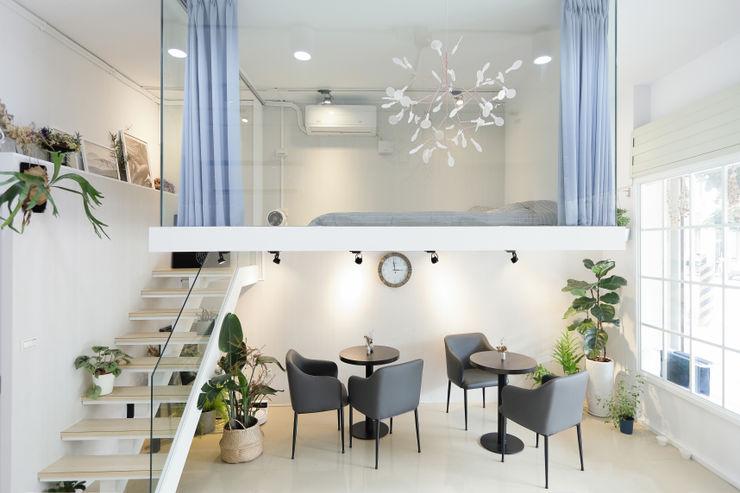 休息區 恆星商業有限公司 Commercial Spaces Tiles White