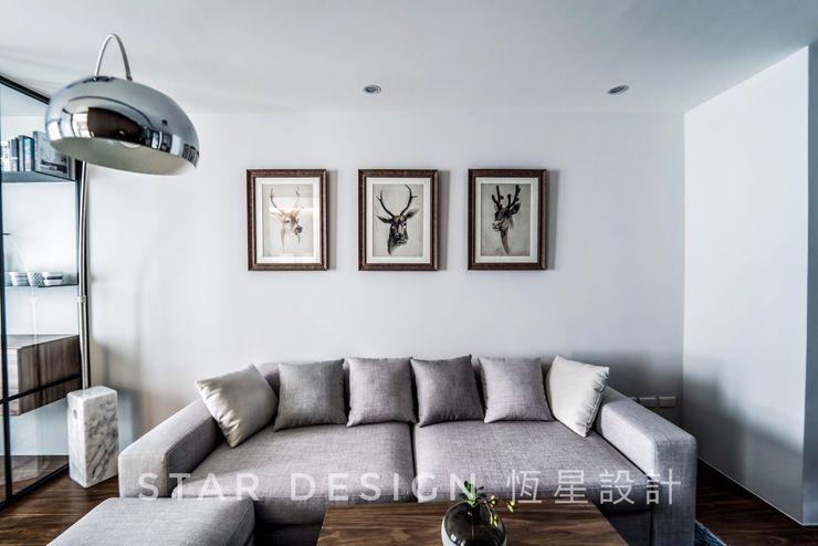 客廳 恆星商業有限公司 Industrial style living room Metal Grey
