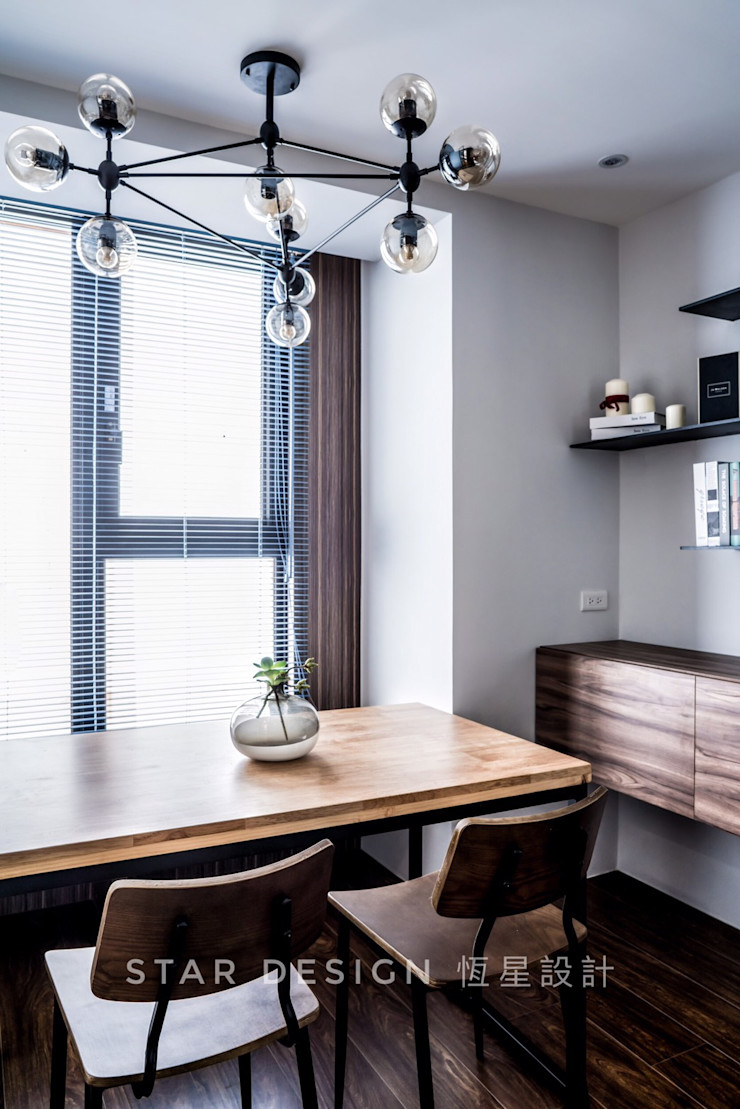 餐廳 恆星商業有限公司 Industrial style dining room Metal Grey