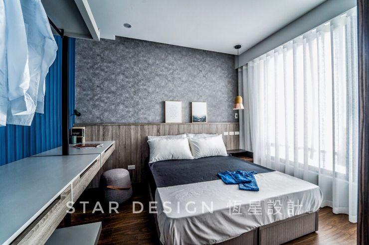 臥室 恆星商業有限公司 Industrial style bedroom Plywood Grey