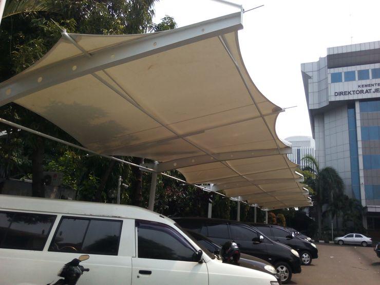 Raja Tenda Membrane Roof Iron/Steel White