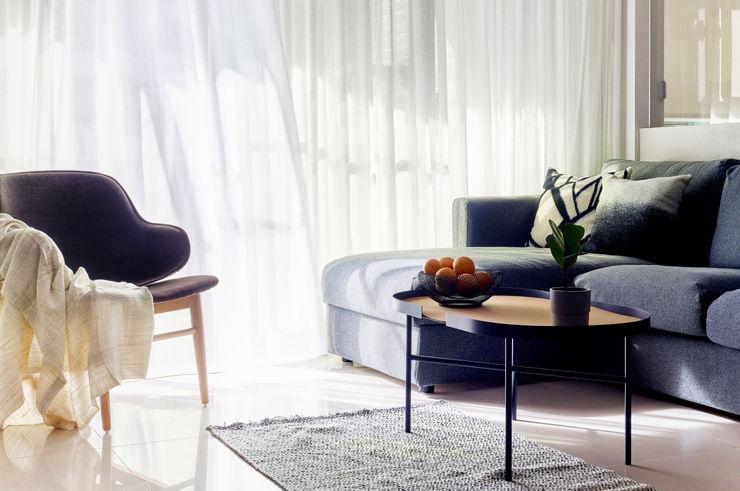 客廳 樸十設計有限公司 SIMPURE Design Minimalist living room