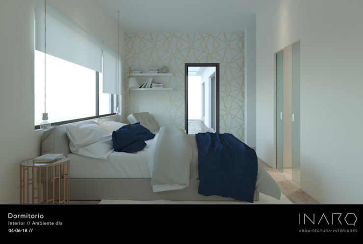 Dormitorio principal INARQ Espacio Dormitorios de estilo moderno Ámbar/Dorado