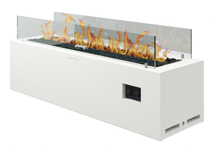 muenkel design - Elektrokamine aus Großentaft Garden Fire pits & barbecues