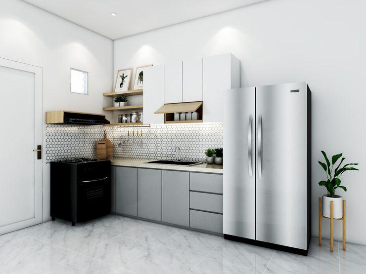 Kitchen set bu ida viku Unit dapur Kayu Grey
