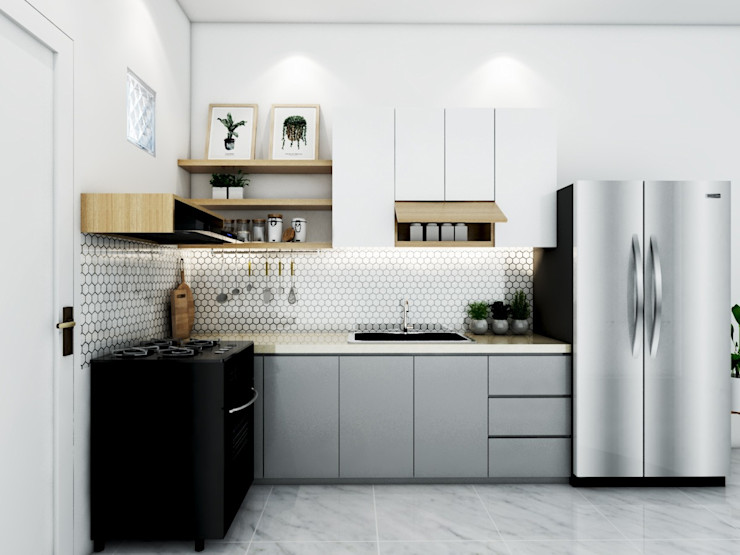 Kitchen set viku Unit dapur Kayu Grey