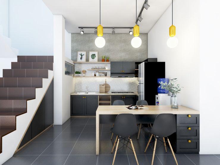 viku Kitchen units Wood Grey