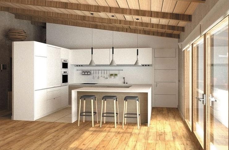 Vivienda Unifamiliar en Cabueñes, Gijón - Actualmente en proyecto homify Cocinas de estilo mediterráneo
