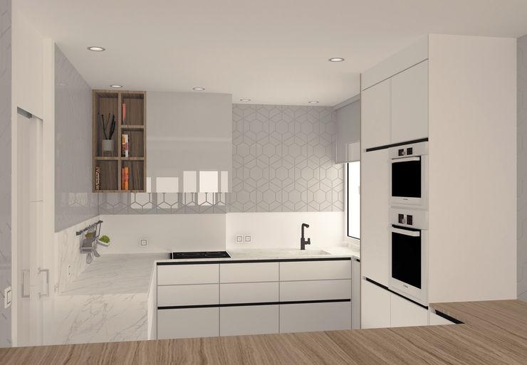 Cocina arQmonia estudio, Arquitectos de interior, Asturias Cocinas integrales Blanco