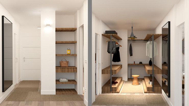 Vestidor arQmonia estudio, Arquitectos de interior, Asturias Vestidores de estilo moderno