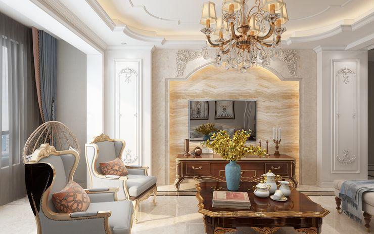 Villa Oturma Odası ve Banyo Tasarımı Lego İç Mimarlık & İnşaat Dekorasyon Klasik Oturma Odası Ahşap Ahşap rengi