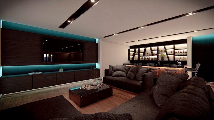 Sala de Televisión Ancla Imports S.A. de C.V. Salas multimedia modernas