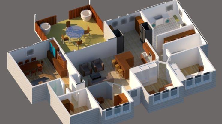 Vivienda estilo tradicional 1planta 196M2 CEC Espinoza y Canales LTDA Casas unifamiliares