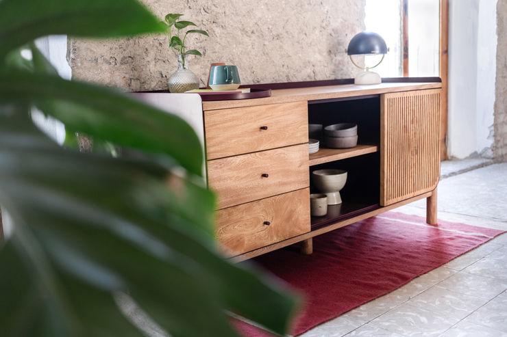 Credenza CACAO ComedorVitrinas y cajoneras Madera maciza Acabado en madera