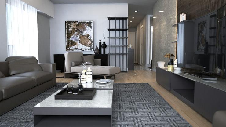 HAZER INTERIOR DESIGN STUDIO Salon moderne