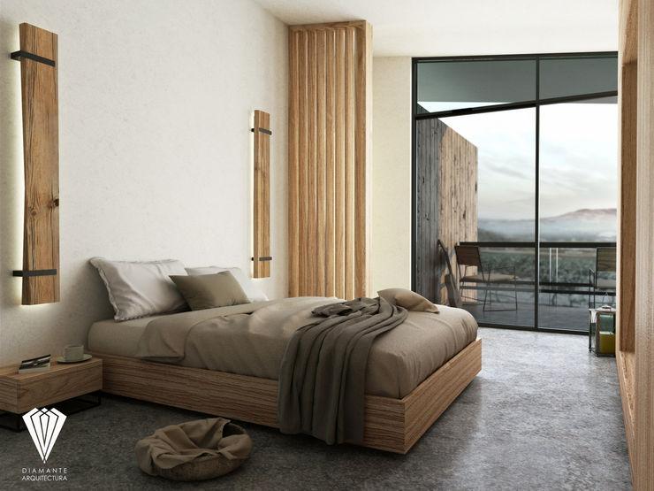 Diamante Arquitectura 地中海スタイルの 寝室