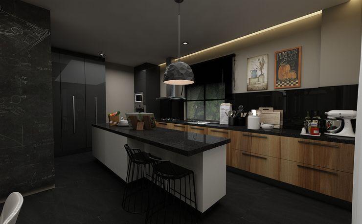 PRATIKIZ MIMARLIK/ ARCHITECTURE KitchenCabinets & shelves