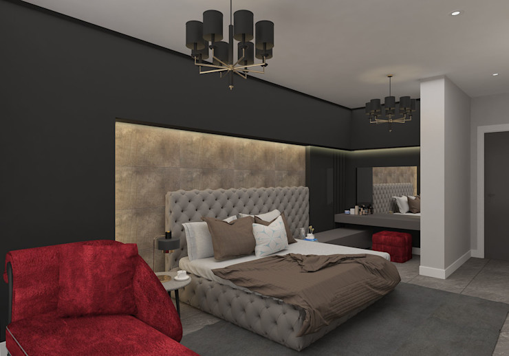 PRATIKIZ MIMARLIK/ ARCHITECTURE BedroomBeds & headboards