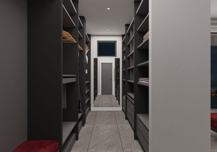 PRATIKIZ MIMARLIK/ ARCHITECTURE Dressing roomWardrobes & drawers