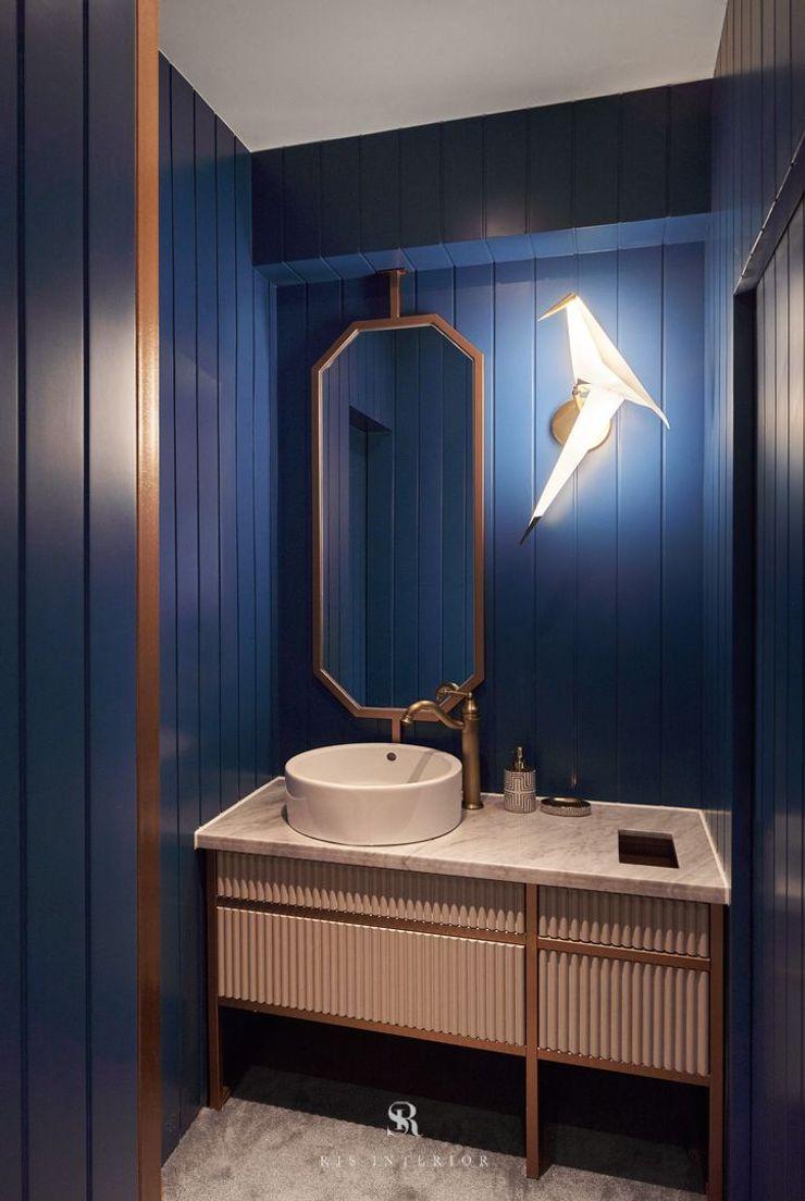 富壁寶鼎珠寶店 FBBD Jeweler 理絲室內設計有限公司 Ris Interior Design Co., Ltd. 辦公空間與店舖 銅/青銅/黃銅 Blue