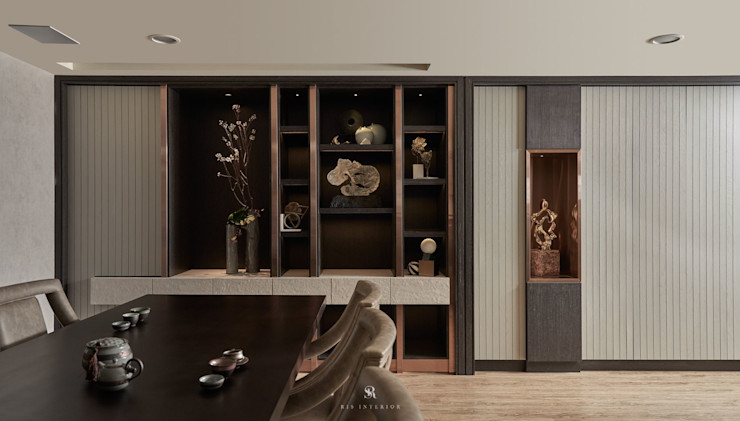 富壁寶鼎珠寶店 FBBD Jeweler 理絲室內設計有限公司 Ris Interior Design Co., Ltd. 辦公空間與店舖 銅/青銅/黃銅 Grey