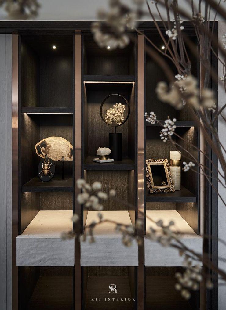 富壁寶鼎珠寶店 FBBD Jeweler 理絲室內設計有限公司 Ris Interior Design Co., Ltd. 辦公空間與店舖 銅/青銅/黃銅 Wood effect