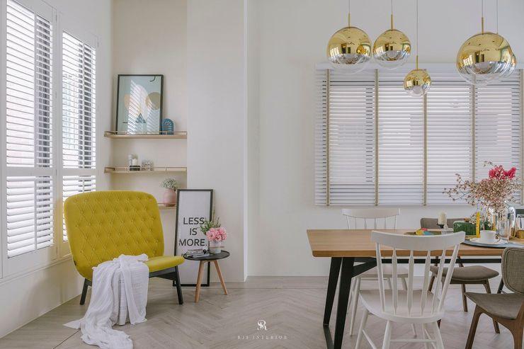 紛染.綿綿 Trochee of Tints 理絲室內設計有限公司 Ris Interior Design Co., Ltd. 客廳 複合木地板 White