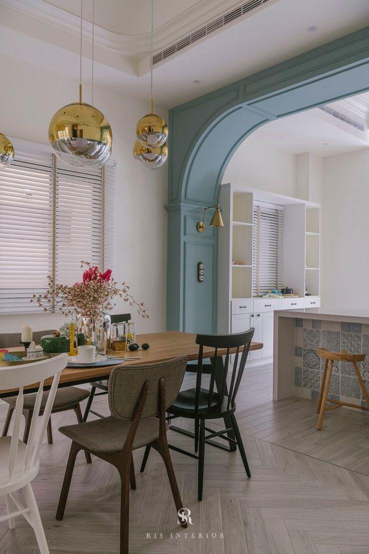 紛染.綿綿 Trochee of Tints 理絲室內設計有限公司 Ris Interior Design Co., Ltd. 廚房 合板 Blue