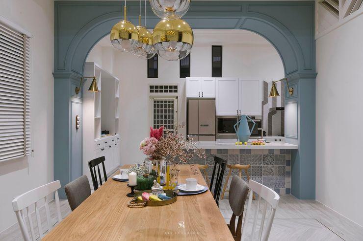 紛染.綿綿 Trochee of Tints 理絲室內設計有限公司 Ris Interior Design Co., Ltd. 小廚房 實木 Blue