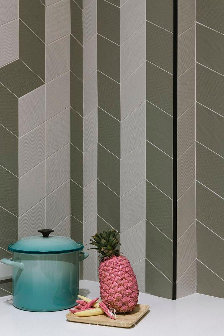 紛染.綿綿 Trochee of Tints 理絲室內設計有限公司 Ris Interior Design Co., Ltd. 牆面 磁磚 Green