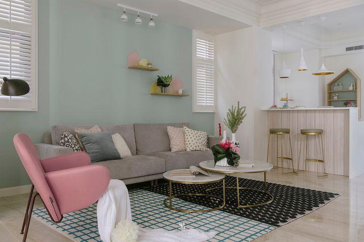 紛染.綿綿 Trochee of Tints 理絲室內設計有限公司 Ris Interior Design Co., Ltd. 客廳 金屬 Blue