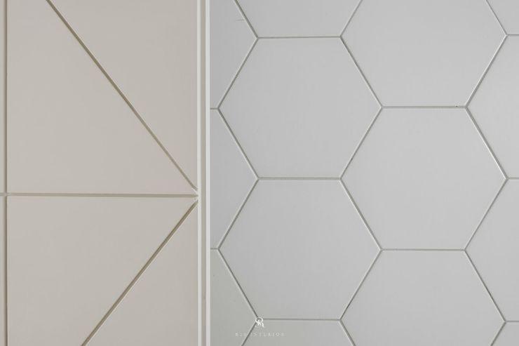 紛染.綿綿 Trochee of Tints 理絲室內設計有限公司 Ris Interior Design Co., Ltd. 牆面 磚塊 White