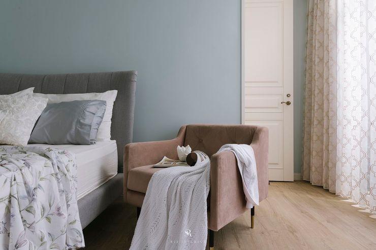 紛染.綿綿 Trochee of Tints 理絲室內設計有限公司 Ris Interior Design Co., Ltd. 小臥室 合板 Blue