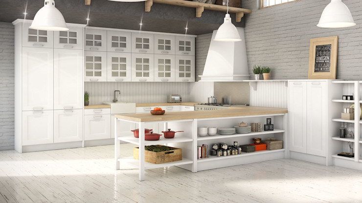 Renders 3d Mobiliario de Cocina Infografias 3D y Renders 3D Madrid Cocinas de estilo mediterráneo