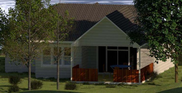 Vivienda Unifamiliar 1 Planta, 140 M2 CEC Espinoza y Canales LTDA Casas de madera